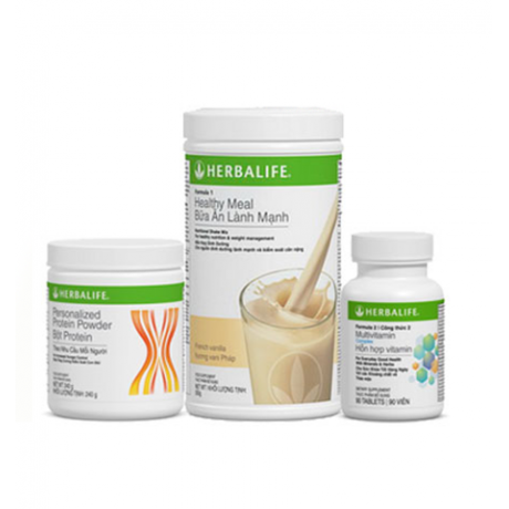 Herbalife - Bộ 3 giảm cân cơ bản bao gồm 3 sản phẩm (F1, PPP, F2)